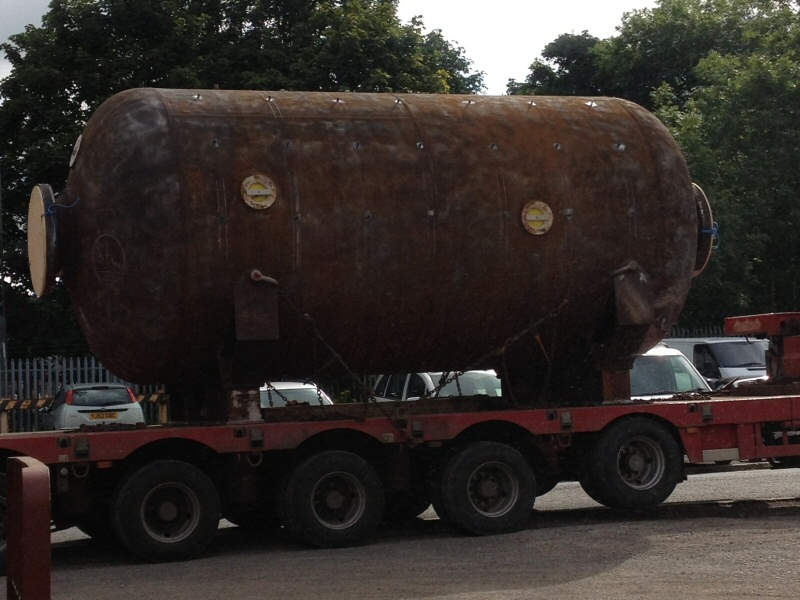 Decompression Chamber (Arrival) - Arrival of a decompression chamber from SMP (Submarine Manufacturing and Profucts Ltd) of Kirkham, Lancashire