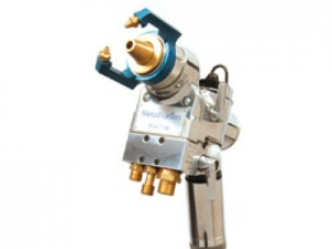 Photo - Oxygen-propane fuelled flamespray metal spraying system for zinc and aluminium anti-corrosion coatings
