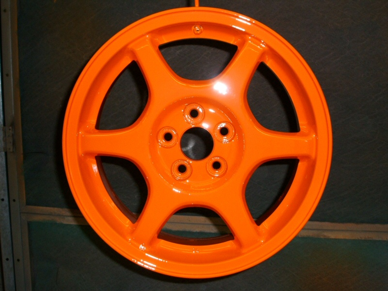 Example of powder coated alloy wheels - After