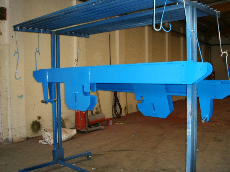 Powder coated track machinery for Tracoinsa of Widnes