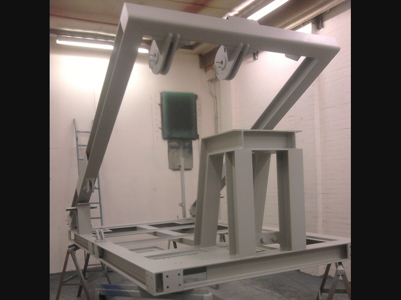 Salt resistant marine coating applied to LARS frame for marine products supplier